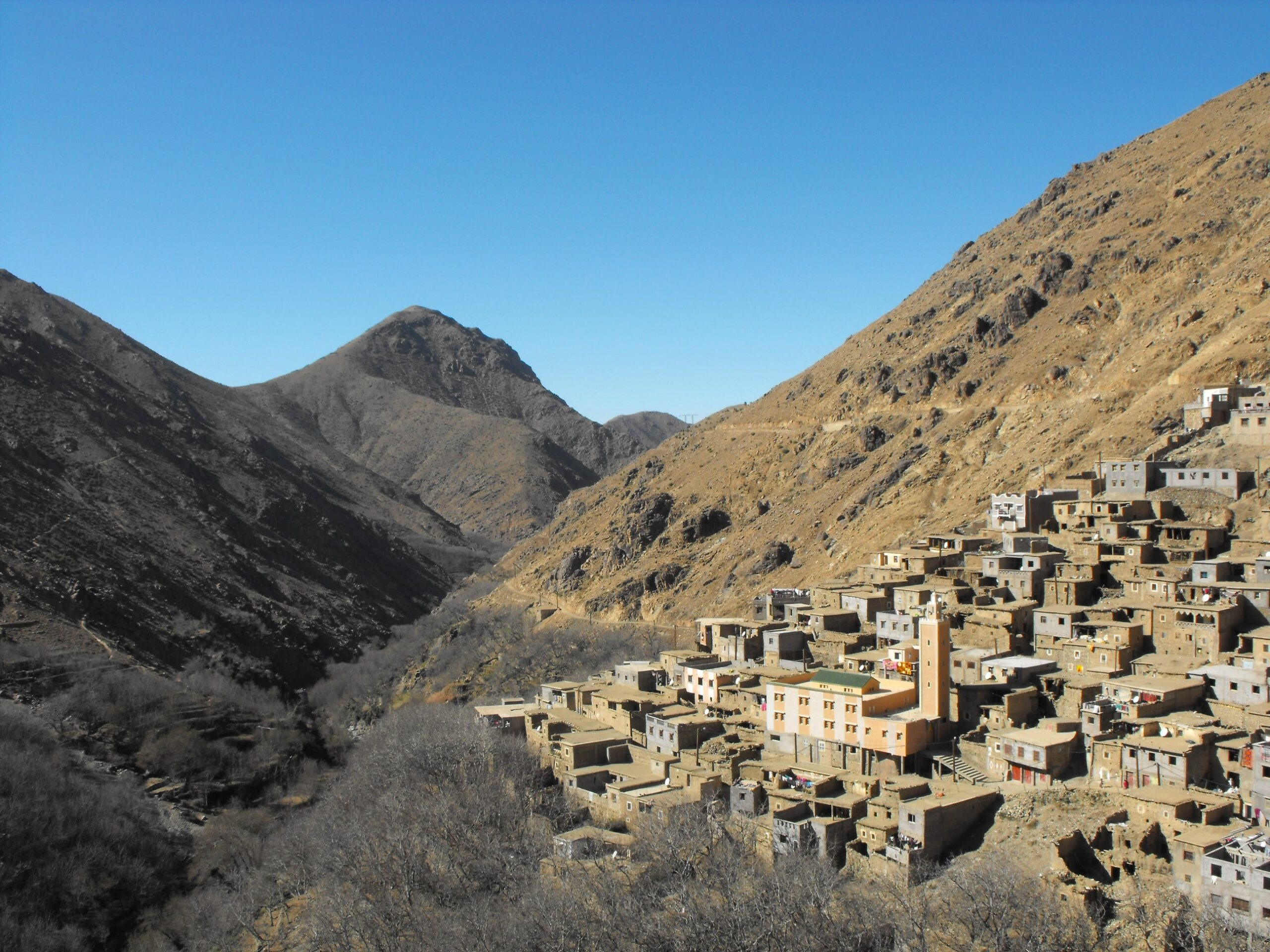 family trek in atlas mountains