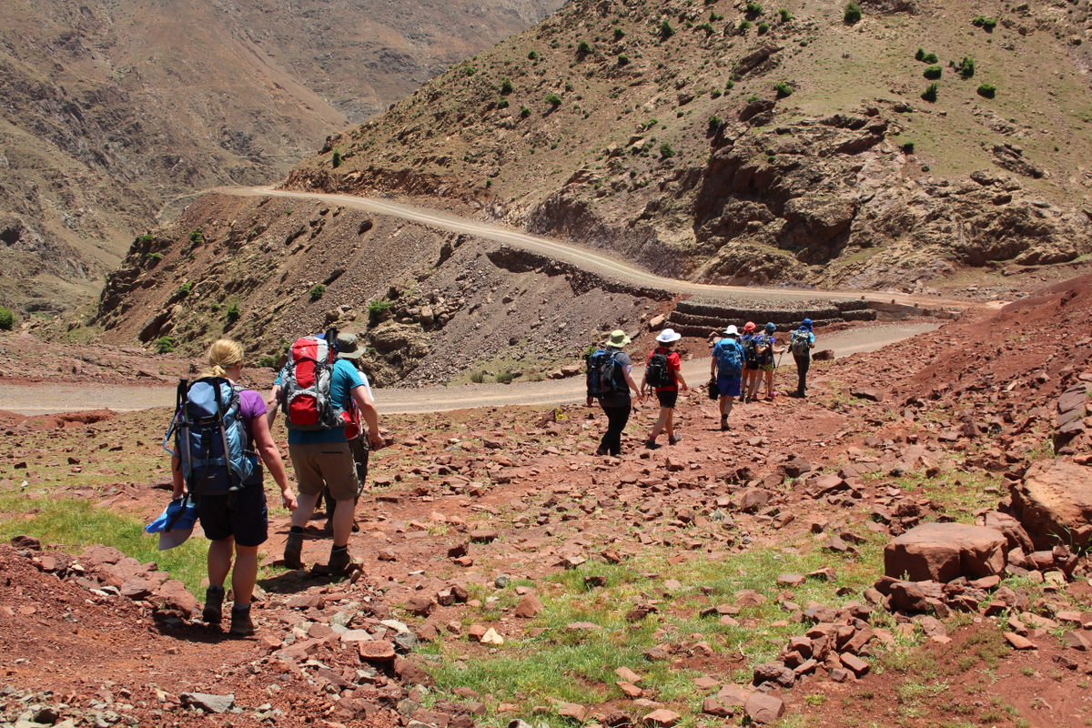 hiking in morocco